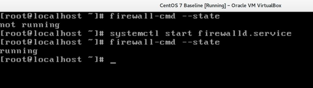 Checking Firewall State in Linux CentOS 7