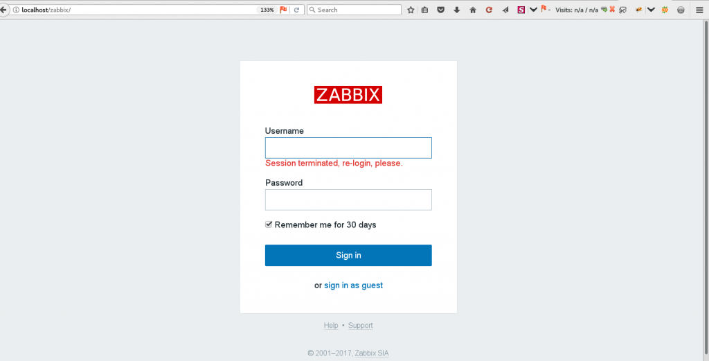 How to Change zabbix admin password